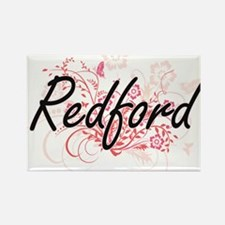 Redford surname artistic design with Flowe Magnets