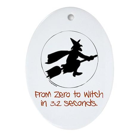 Zero to Witch Oval Ornament