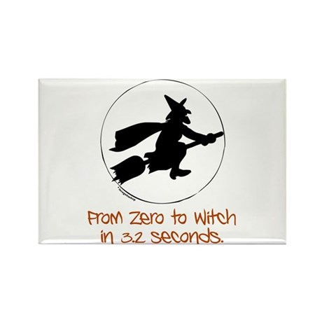 Zero to Witch Rectangle Magnet (10 pack)