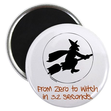 "Zero to Witch 2.25"" Magnet (10 pack)"