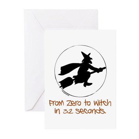 Zero to Witch Greeting Cards (Pk of 20)
