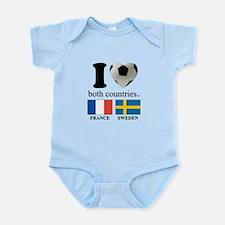 FRANCE-SWEDEN Infant Bodysuit