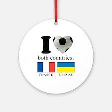FRANCE-UKRAINE Round Ornament