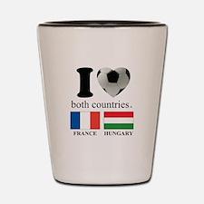 FRANCE-HUNGARY Shot Glass