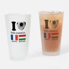 FRANCE-HUNGARY Drinking Glass