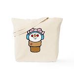 Cute Little Girl Snow Cone Tote Bag