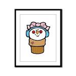 Cute Little Girl Snow Cone Framed Panel Print