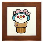 Cute Little Girl Snow Cone Framed Tile