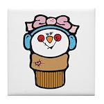 Cute Little Girl Snow Cone Tile Coaster