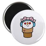 Cute Little Girl Snow Cone Magnet