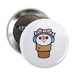 Cute Little Girl Snow Cone Button
