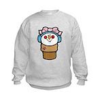 Cute Little Girl Snow Cone Kids Sweatshirt
