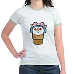Cute Little Girl Snow Cone Jr. Ringer T-Shirt