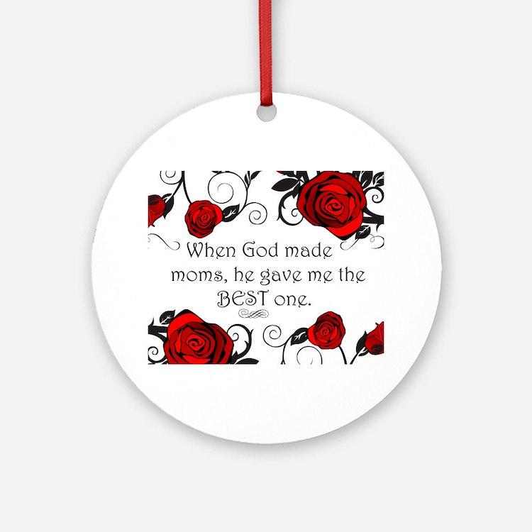 Best mom Round Ornament