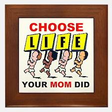CHOOSE LIFE Framed Tile