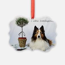 Sheltie Intelligence Ornament