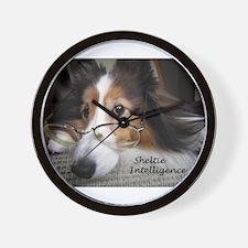 Sheltie Intelligence Wall Clock