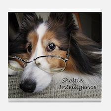 Sheltie Intelligence Tile Coaster