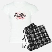 Phillips surname artistic d Pajamas