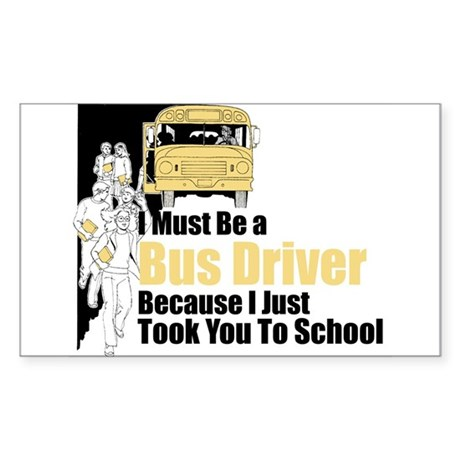 Bus Driver Rectangle Sticker