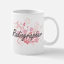 Radiographer Artistic Job Design with Flowers Mugs