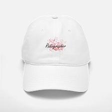 Radiographer Artistic Job Design with Flowers Baseball Baseball Cap