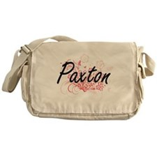 Paxton surname artistic design with Messenger Bag