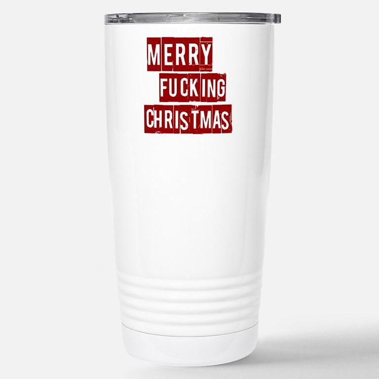 Cute Fuck santa Travel Mug