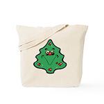 Cute Happy Christmas Tree Tote Bag