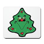Cute Happy Christmas Tree Mousepad