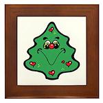 Cute Happy Christmas Tree Framed Tile