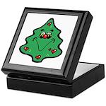 Cute Happy Christmas Tree Keepsake Box