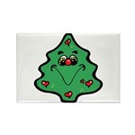 Cute Happy Christmas Tree Rectangle Magnet (100 pa