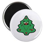 Cute Happy Christmas Tree Magnet