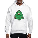Cute Happy Christmas Tree Hooded Sweatshirt