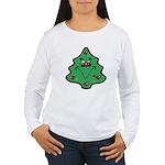 Cute Happy Christmas Tree Women's Long Sleeve T-Sh