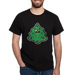 Cute Happy Christmas Tree Dark T-Shirt