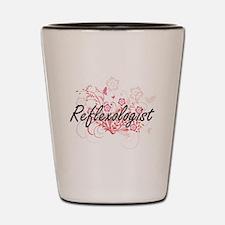 Reflexologist Artistic Job Design with Shot Glass