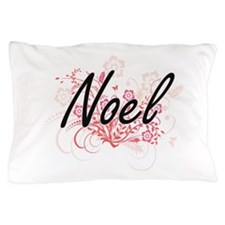 Noel surname artistic design with Flow Pillow Case