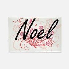 Noel surname artistic design with Flowers Magnets