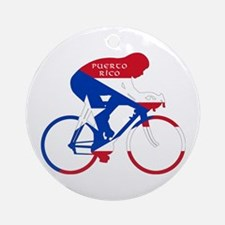Puerto Rico Cycling Round Ornament