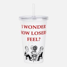 winner joke Acrylic Double-wall Tumbler