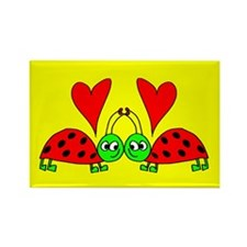 Bug in Love Rectangle Magnet