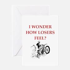 dirt bike Greeting Cards