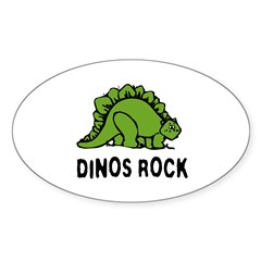Dinos Rock! Oval Decal