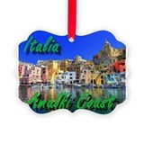 Amalfi coast italy Picture Frame Ornaments