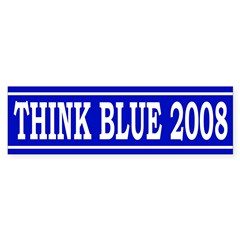 Think Blue 2008 (Bumper Sticker)