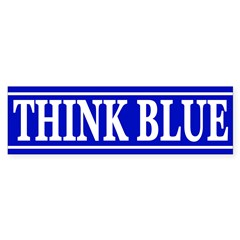 Think Blue (bumper sticker)