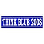 Think Blue 2008 (Bumper Sticker)