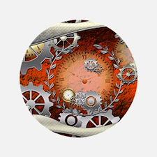 Steampunk in noble design Button